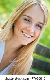 Smile - outside portrait of young woman (teenager)