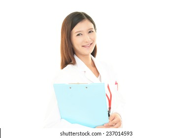 Smile of pharmacist