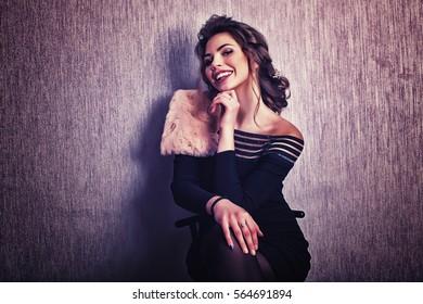 Smile posing women