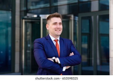 The smile of a successful business man.