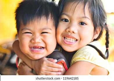 Smile together.
