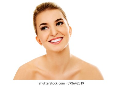 Smiled young naked woman