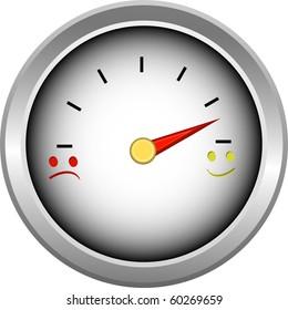 Smiler Gauge for measure of fuel or money illustration