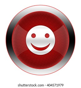 Smiley button isolated