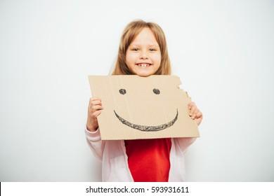 Smiley cheerful. little girl