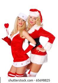Smiley christmas girls