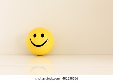 smiley face ball background - vintage soft light filter effect