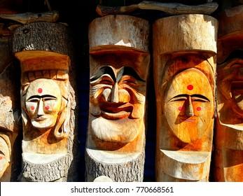 Smiley Face Hahoe Masks in Korea