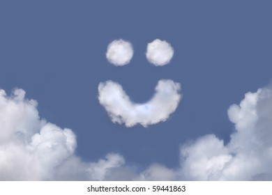 Cloud With Smiley Face Stock Photos Images Photography Shutterstock