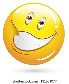 Smiley Illustration - Very Happy Face