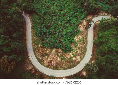 smiley road, curve road on top of the mountain