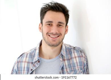Smiling 30-year-old man