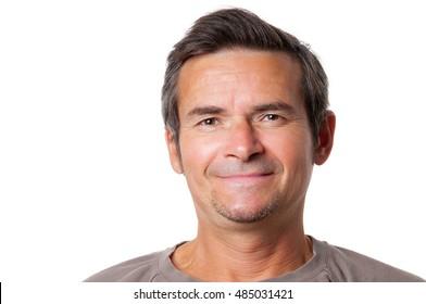 Smiling adult man studio portrait