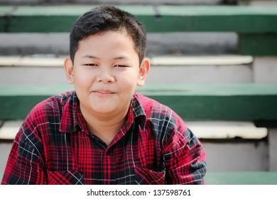 smiling asian boy