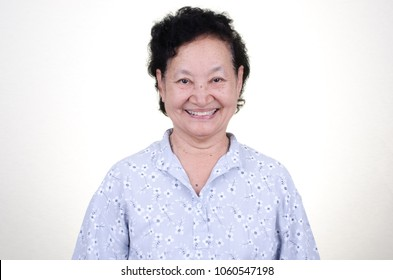 Smiling Asian Senior  woman