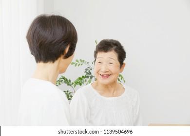 smiling the Asian women