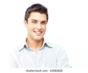 smiling attractive young man portrait