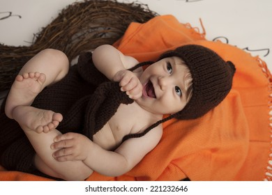 Smiling Baby Girl in heart