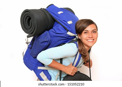 smiling backpacker with nose ring