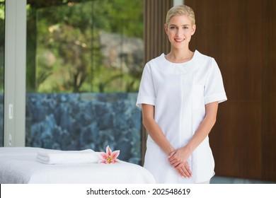 Hotel uniform images stock photos vectors shutterstock for Uniform spa vector