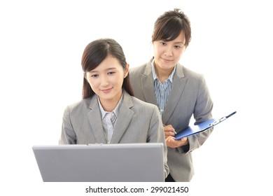 Smiling business women