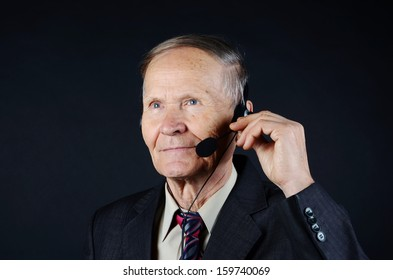 Smiling Businessman with headphones