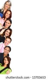 Smiling  businesswomen. Isolated over white background