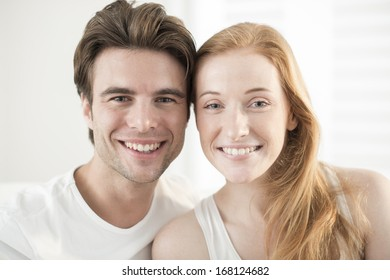smiling couple close-up