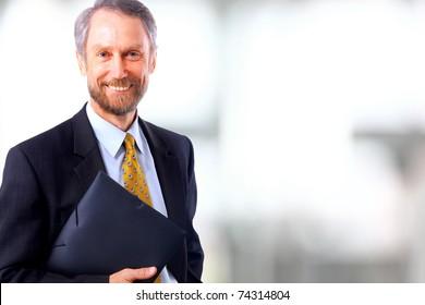 Smiling face of senior man