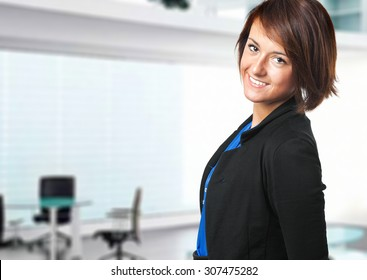 Smiling female manager in the office