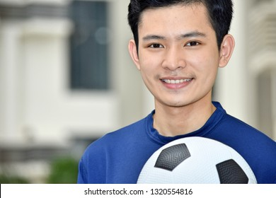 Smiling Filipino Male Soccer Player