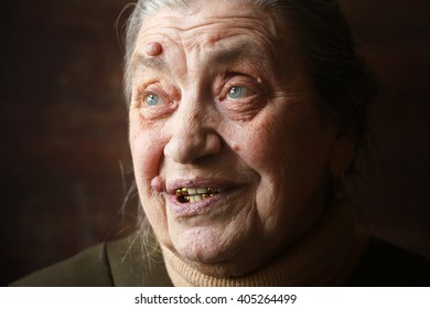 Smiling granny face