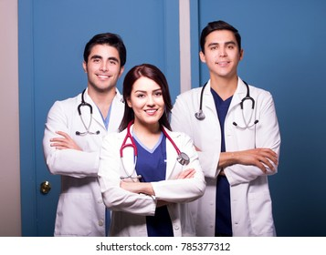 Smiling Group Of Doctors