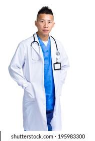 Smiling handsome doctor