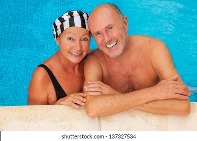 smiling happy seniors relaxing travel team