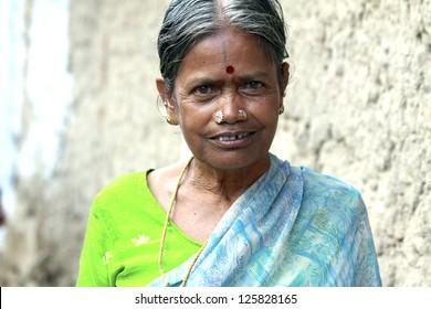 Smiling Indian Senior Woman