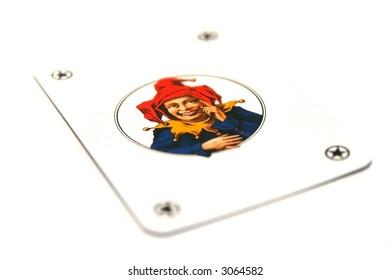 Smiling joker card