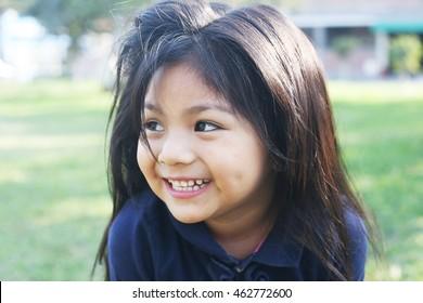 Smiling latin kid