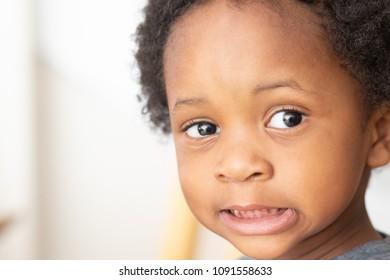 Smiling little black boy