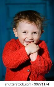 A smiling little boy