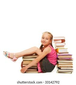 Smiling little schoolgirl