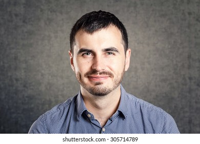 Smiling man isolated