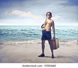 Smiling Man at the Seaside