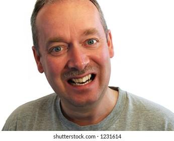 Smiling Man Wearing a T-Shirt