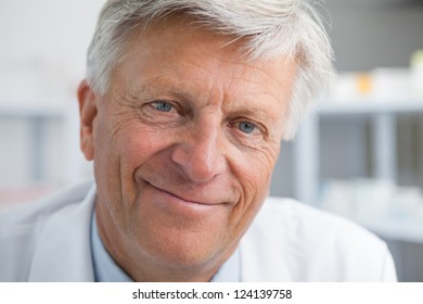 Smiling mature doctor
