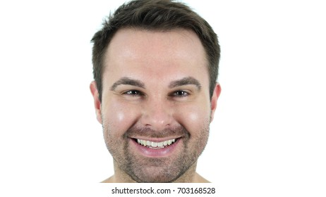 Smiling Middle Aged Man Face