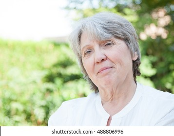 Smiling old age woman