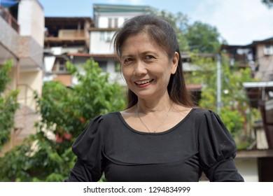 Smiling Old Filipina Female Senior