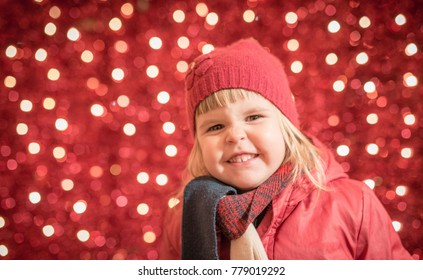 Smiling outdoor portrait of child yt Christmas