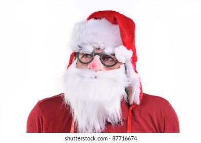 Smiling Santa Claus portrait, studio shot